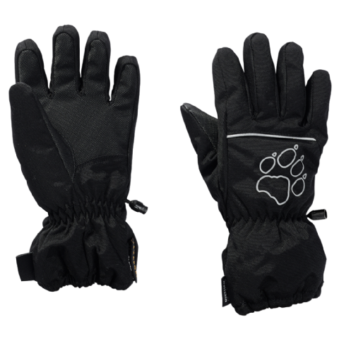 Jack Wolfskin Kids Texapore Glove  /  Waterproof Glove / Breathable / Synthetic  - Black
